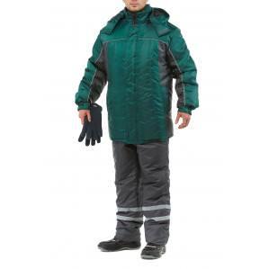 Куртка утепленная ЭКСТРА, цв.зеленый-серый