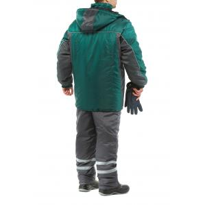 Куртка утепленная ЭКСТРА, цв.зеленый-серый - 1