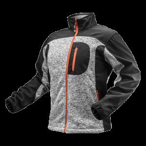 Куртка трикотажная на молнии Softshell NEO TOOLS 81-555 серо-черная