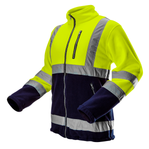 Куртка флисовая сигнальная NEO TOOLS 81-740, цв. лимонный