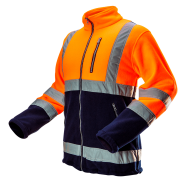 Куртка флисовая сигнальная NEO TOOLS 81-741, цв. оранжевый