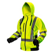 Куртка флисовая сигнальная с капюшоном NEO TOOLS 81-745, цв. лимонный