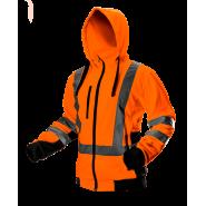 Куртка флисовая сигнальная с капюшоном NEO TOOLS 81-746 оранжевая