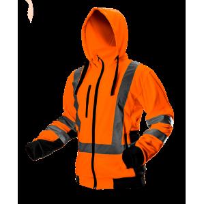 Куртка флисовая сигнальная с капюшоном NEO TOOLS 81-746, цв. оранжевый