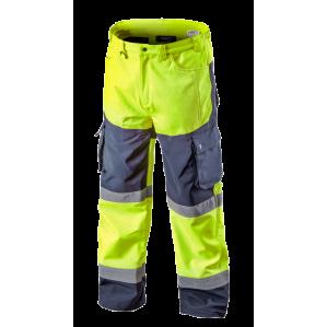 Сигнальные брюки утепленные Softshell NEO TOOLS 81750, цв.лимонный
