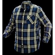 Рубашка фланелевая Neo Tools 81-541 оливково-синяя