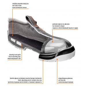 Рабочие сандали кожаные NEO TOOLS 82-070 S1 SRA - 2