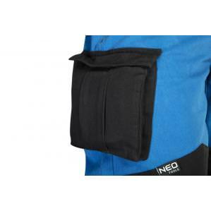 Брюки рабочие хб Neo Tools HD+ 81-225 cине-серые - 4
