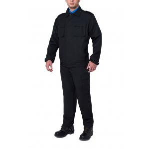 Костюм ОХРАНА с брюками, цв.черный