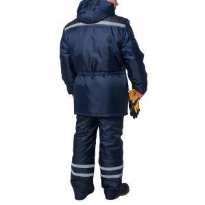 Куртка утеплена ТЕЛЕКОМ, кол.синій-сірий - 1