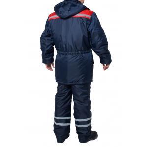 Куртка утепленная ТЕЛЕКОМ, цв.синий-красный - 1