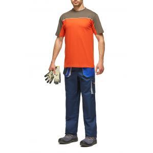 Футболка DESMAN, цв.оранжевый-серый