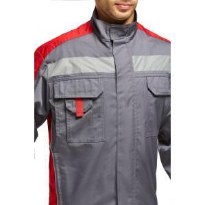 Куртка мужская SVAN ЛИНКОР NEW, серый-красный - 2