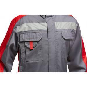 Куртка мужская SVAN ЛИНКОР NEW, серый-красный - 1