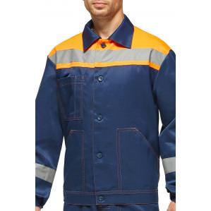 Костюм SVAN ПРОФИ с полукомбинезоном сине-оранжевый - 1